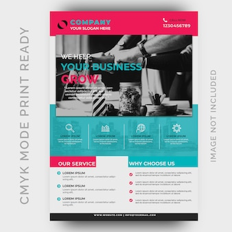 Modern creative agency business flyer design template
