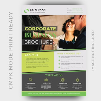 Modern creative agency business flyer design template