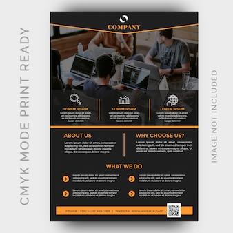 현대 크리 에이 티브 에이전시 비즈니스 전단지 디자인 서식 파일