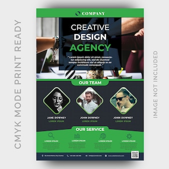 Modern creative agency business flyer template