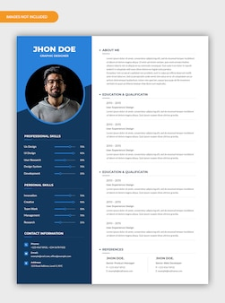 Modern creative cv resume template