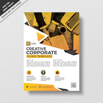 Modern creative geometry style corporate flyer template design