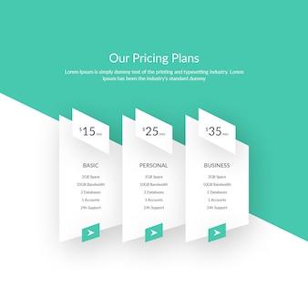 Современная креативная таблица цен