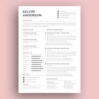 Modern and creative resume template design