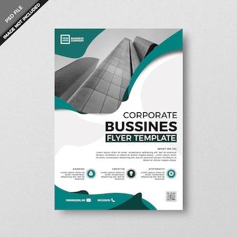 Modern creative teal design flyer template