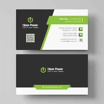 Modern dark business card mockup