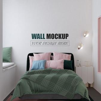Макет стены спальни в современном стиле
