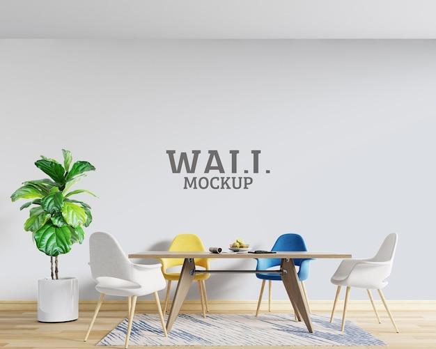 Modern design space wall mockup