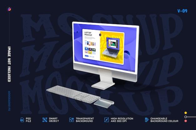 Макет экрана современного настольного компьютера