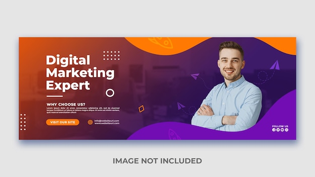 Modern digital marketing agency and business promotion and creative web banner template