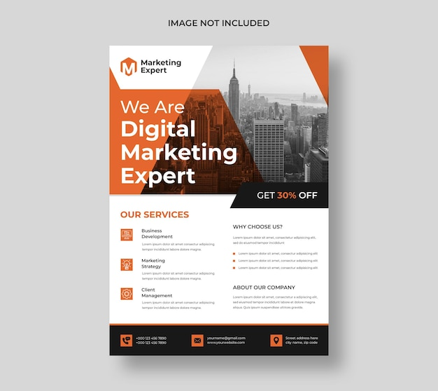 Шаблон флаера современного цифрового маркетингового агентства