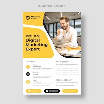 Modern digital marketing flyer template