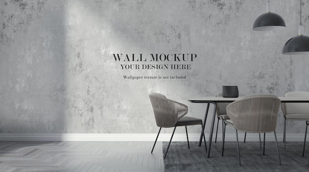 Modern dining room wall mockup