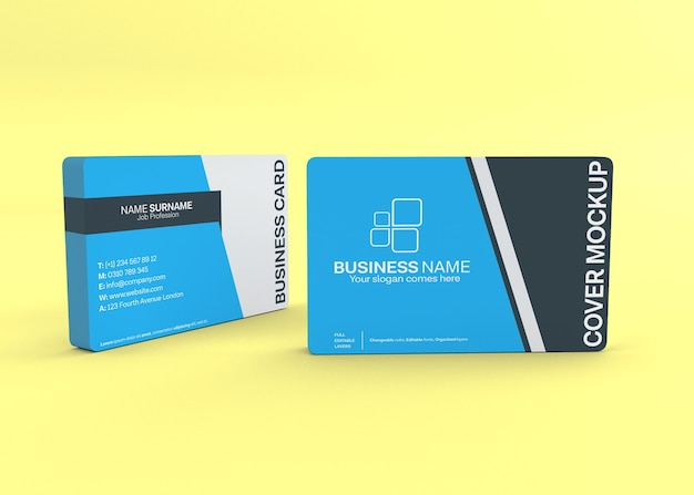 Modern double sided business card mockup