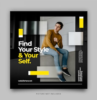 Modern dynamic instagram post feed template