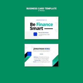 Современный шаблон визитной карточки электронного кошелька Premium Psd