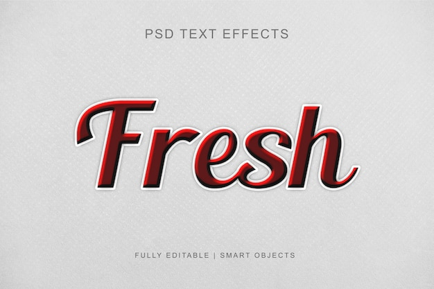 Modern editable graphic style text effect