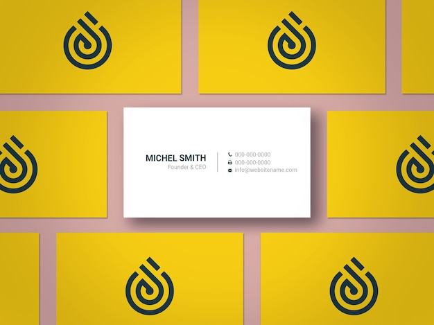 Modern and elegant business card mockup