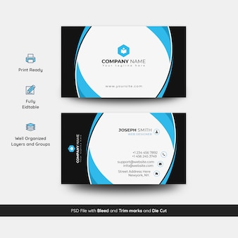 Modern and elegant business card template
