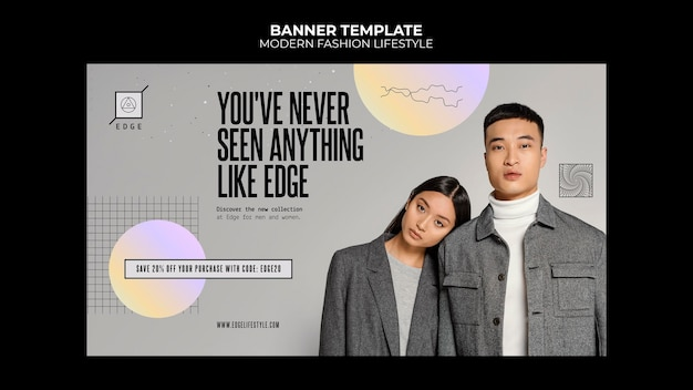 Шаблон баннера современной моды