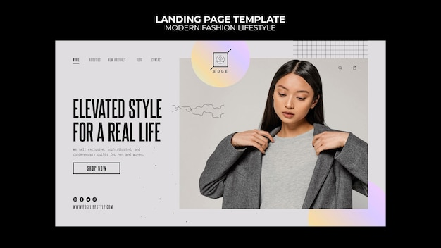 Modern fashion lifestyle landing page