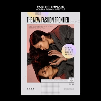 Modern fashion lifestyle poster template