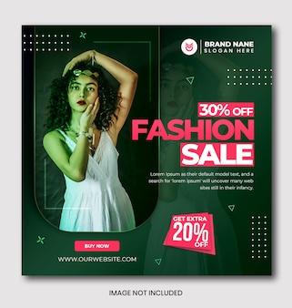 Modern fashion sale banner template