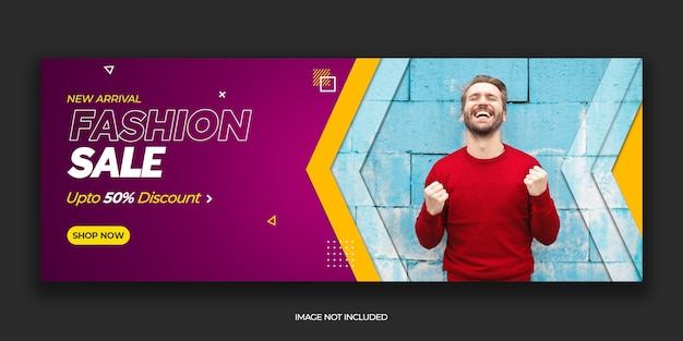 Modern fashion sale facebook cover post template premium psd