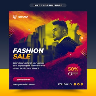 Modern fashion sale social media and web banner template