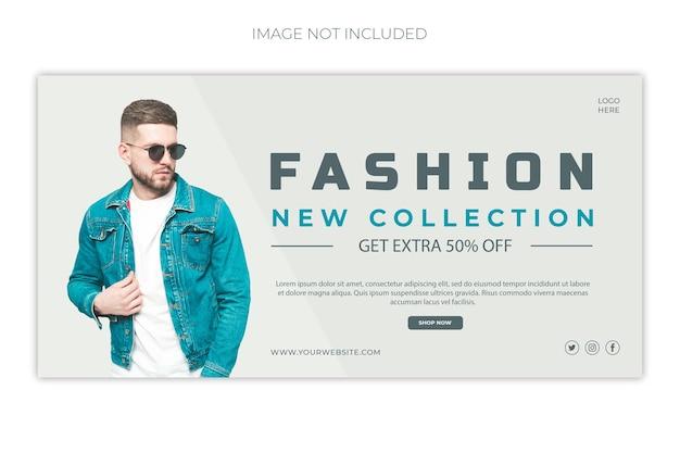 モダンファッションソーシャルメディアプロモーションとinstagramポストデザインプレミアムpsd