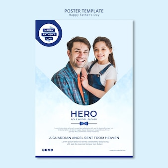Modern father's day poster template