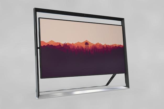 Modern frame mockup with image