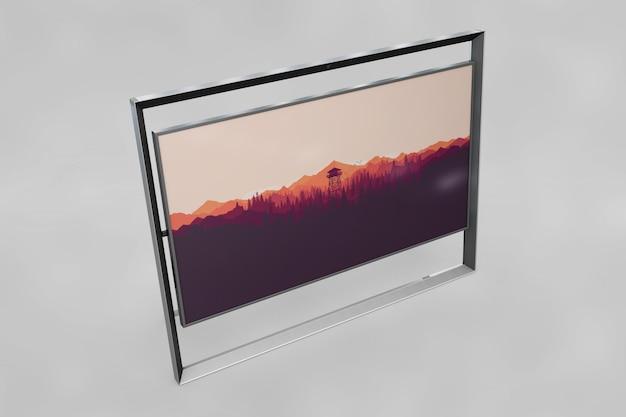 Mockup di cornice moderna con foto