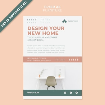 Modern furniture concept flyer template