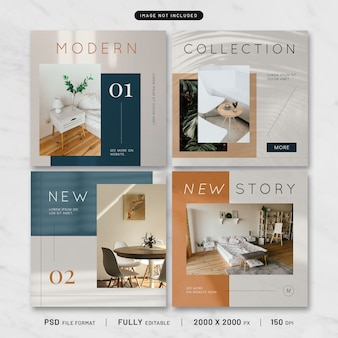 Modern furniture post template collection