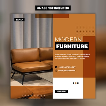 Modern furniture social media post template