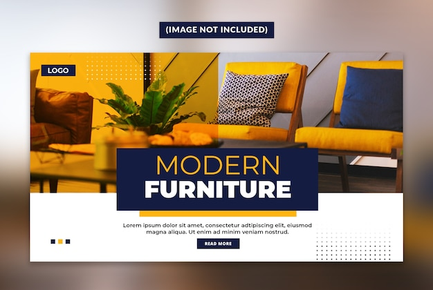 Modern furniture web banner template