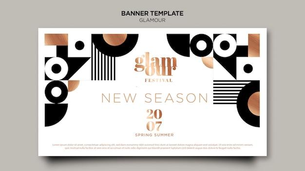 Modern glamour banner template