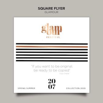 Modern glamour flyer template