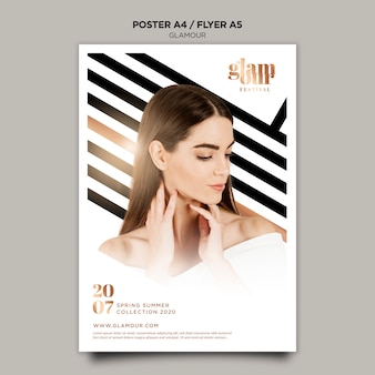 Modern glamour poster template