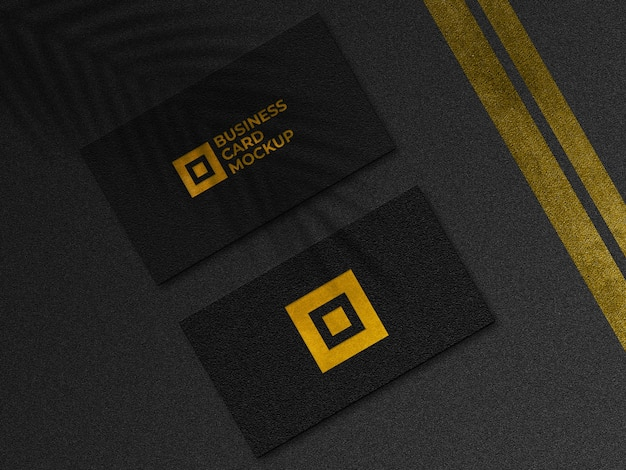 Макет современной золотой визитки