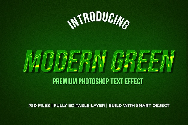 Modern green text effect styles