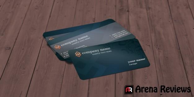 Modern grey business card template