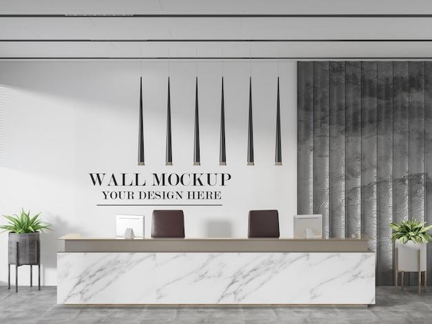 현대 호텔 프런트 데스크 벽 템플릿
