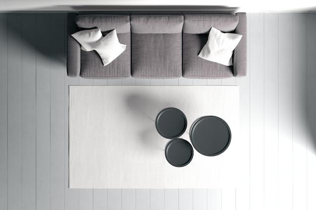 거실의 현대적인 인테리어 디자인