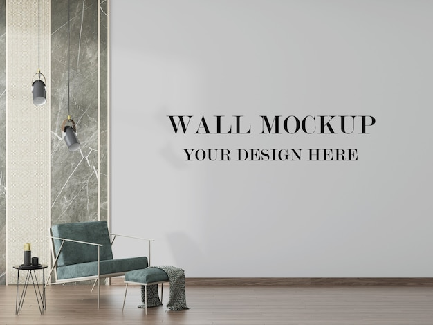 Modern interior wall background in 3d rendering