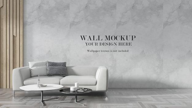 Modern interior wall mockup design