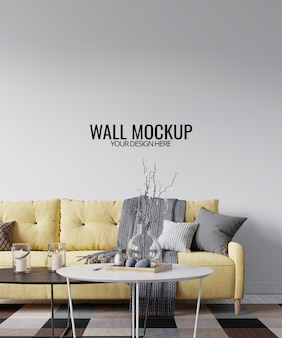 Modern interior wall mockup