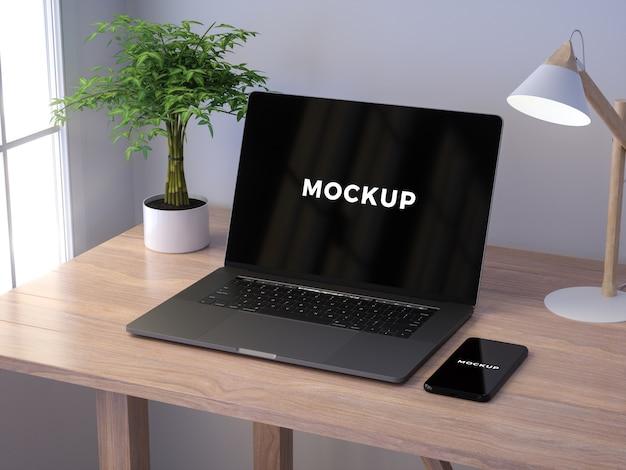 Modern laptop mockup