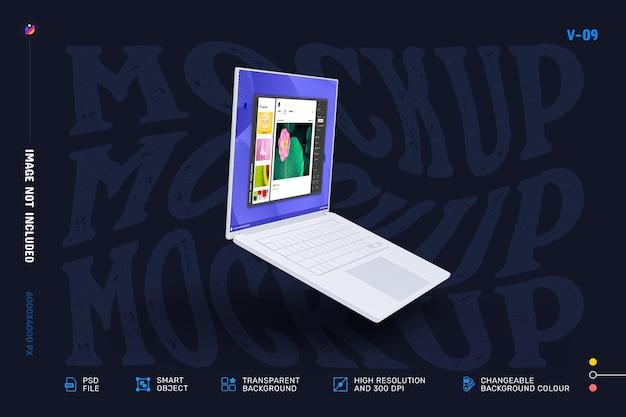 Современный дизайн макета экрана ноутбука